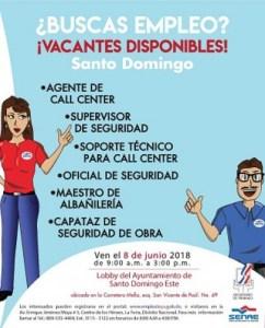 Ministerio de Trabajo invita a Jornada de Empleo para empresa de servicio
