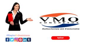 vacante de empleo en VMO en república dominicana