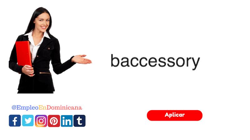 Nueva vacante de empleo en Baccessory
