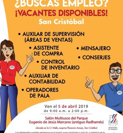 ministerio de trabajo invita a jornada de empleo en san cristobal Feria de empleo San Cristobal