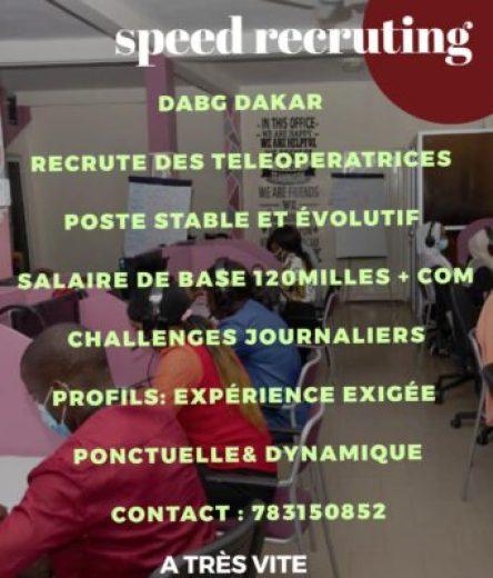DABG recrute plusieurs Commerciales en ligne.