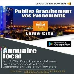 Lomé City publier gratuitement événements