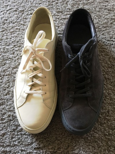 Comparing Common Projects Achilles Low Suede to Leather