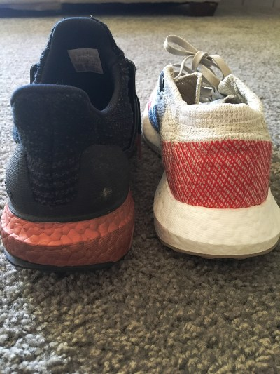 adidas pure boost and ultra boost heels