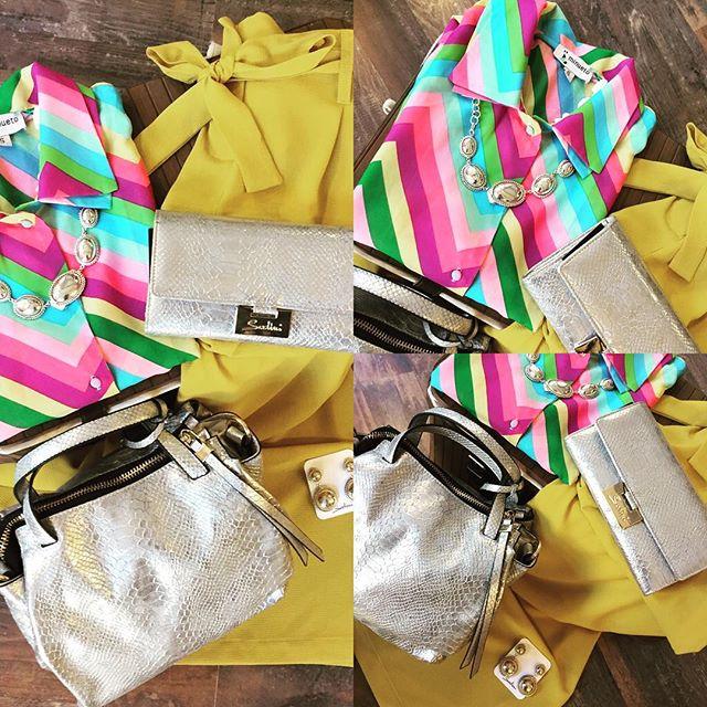 Ehi GIRLS....Il giallo è proprio il nostro colore...Chi ama il giallo è dotato di tanta vitalità e di immaginazione...Sempre pronto alle nuove avventure ed è pieno di gioia e voglia di vivere a pieno colore la vita...Oggi lo abbiamo scelto per dei pantaloni a palazzo #vicolo, abbinata ad una camicetta multicolor #minueto...insieme agli imperdibili accessori firmati #sodini...totalsilver...borsa, collana e orecchini...Che dite vi fate colorare anche voi da noi in questa estate appena iniziata?!?!?#emporio #emporiodress #yellow #vitalità #freschezza #gioia #fashionaddict #style #vicolo #minueto #sodinibagandbijoux #havefu