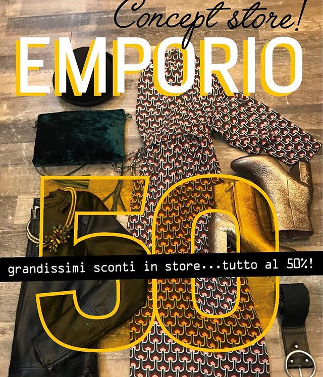 Eccoci!!Ci siamo!!!Da oggi...F U O R I  T U T T OAbbigliamento e accessori uomo donna bambinoTutto al 50%️️Vi aspettiamo in store con tantissime occasioni da non perdere!#emporiobrand #drinkdresslive #shopping #ladispoli #man #woman #baby #supersale