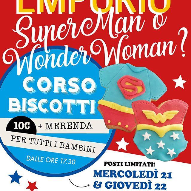 Super Man o Wonder Woman?Altre due giornate dedicate ai nostri piccoli amiciNuovo appuntamento con i nostri corsi di biscottini. MERCOLEDÌ 21 e GIOVEDÌ 22 vi aspettiamo!#laboratori #piccoliamici #emporioconceptstore #superman #superwoman #ladispoli