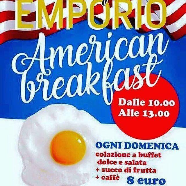 Buongiorno  Come ogni domenica siamo cariche con la nostra Super colazione  Vi aspettiamo per saziare la vostra voglia di bacon, scrumble eggs, pancake , club sandwich e tanto altro 🥧🥛🥞🥓#emporioconceptstore #americanbreakfast #food #happysunday #foodporn #ladispoli