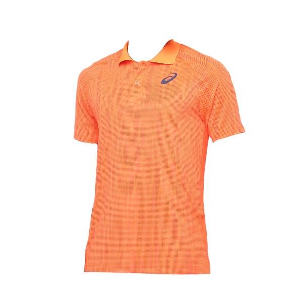 Camiseta Polo Asics Tennis Challenger Masculina Laranja