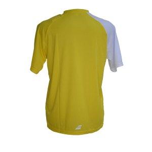 Camiseta Babolat Performance Man Amarela e Branca