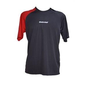 Camiseta Babolat Performance Cinza e Vermelha