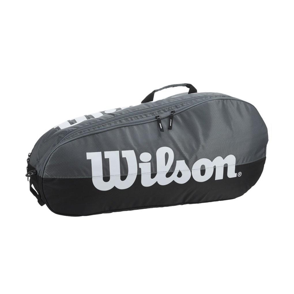 Raqueteira Wilson Team Cinza e Preta X6