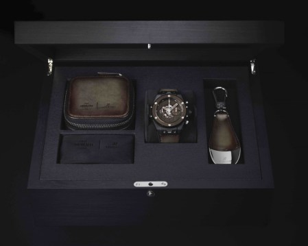 Berluti and Hubolt collaboratively creates the Unico Big Bang Cold Brown Watch