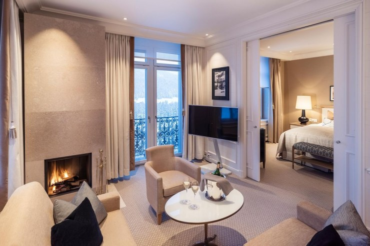 Grand Hotel Kronenhof in Pontresina refurbished suites by Pierre-Yves Rochon
