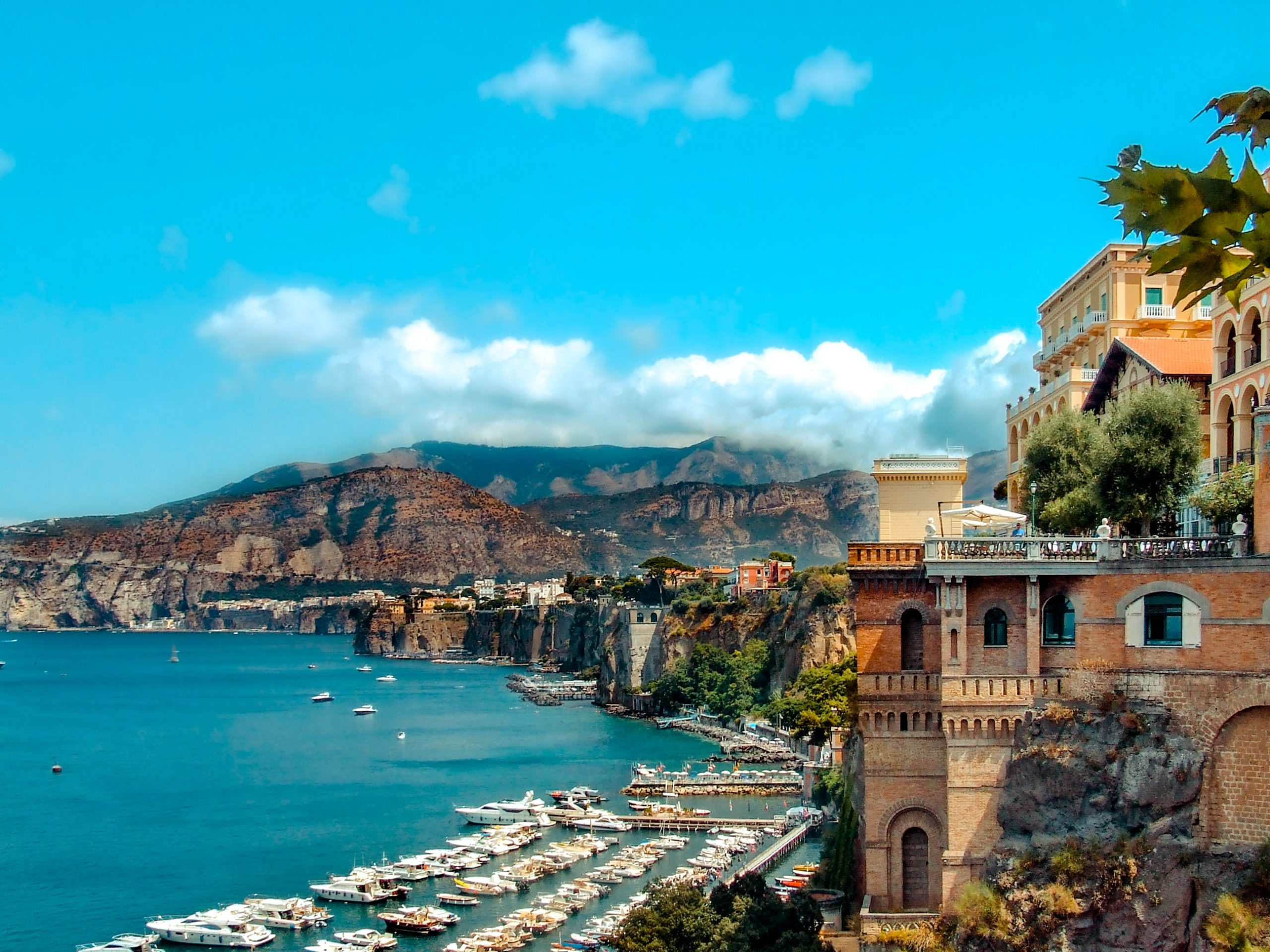 Capri-Rugged Landscape Upscale Hotels and Shopping