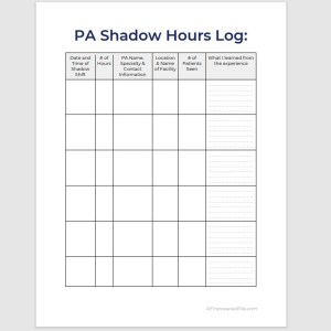 PA Shadow Hours Log 3