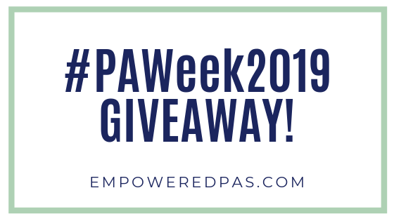 physician assistant week 2019 giveaway