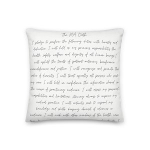 Physician Assistant Oath Pillow