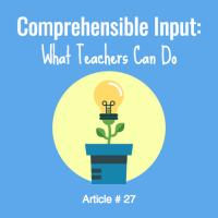 ELL comprehensible input strategies for ells