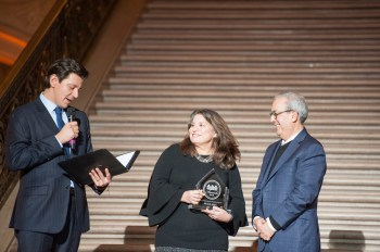Michelle Jeffers, of the San Francisco Public Library, accepts her NEN Award for Most Empowering City Employee. Congratulations, Michelle! Photo credit Tim Ho.