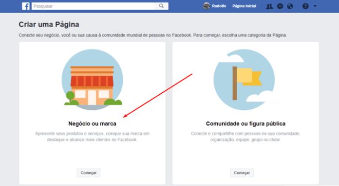 pagina de negocio no facebook