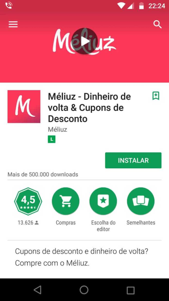 aplicativo méliuz para celular