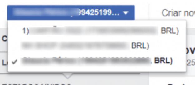 conta de anuncios facebook