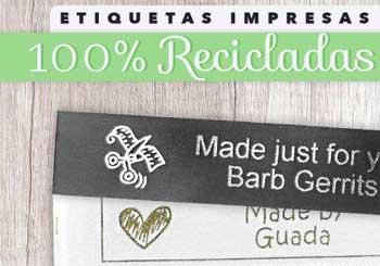 Etiquetas impresas reciclables
