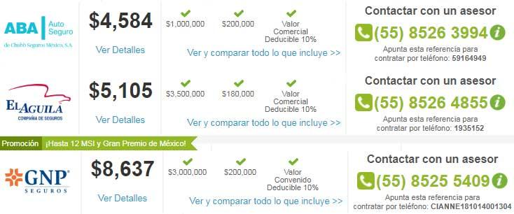 Ofertas de seguros en Mexico