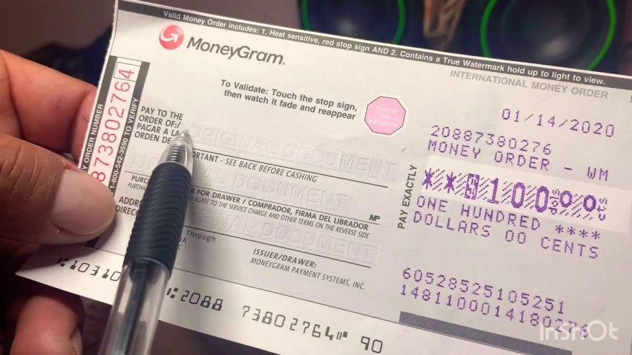 cómo llenar un money order