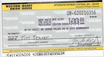 Western Union Money Order