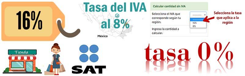 Tasas de IVA México