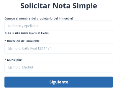 Solicitar nota simple