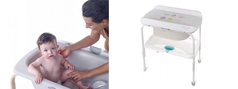 Pack bañera cambiador bebé