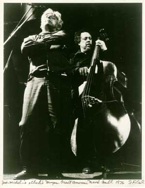 Jack Micheline and Charlie Mingus at Great American Music Hall, San Francisco, 1976. Photo copyright 1976, A.D. Winans.