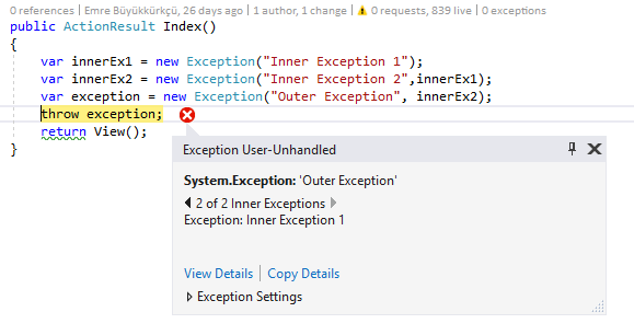 InnerExceptions With Exception Helper