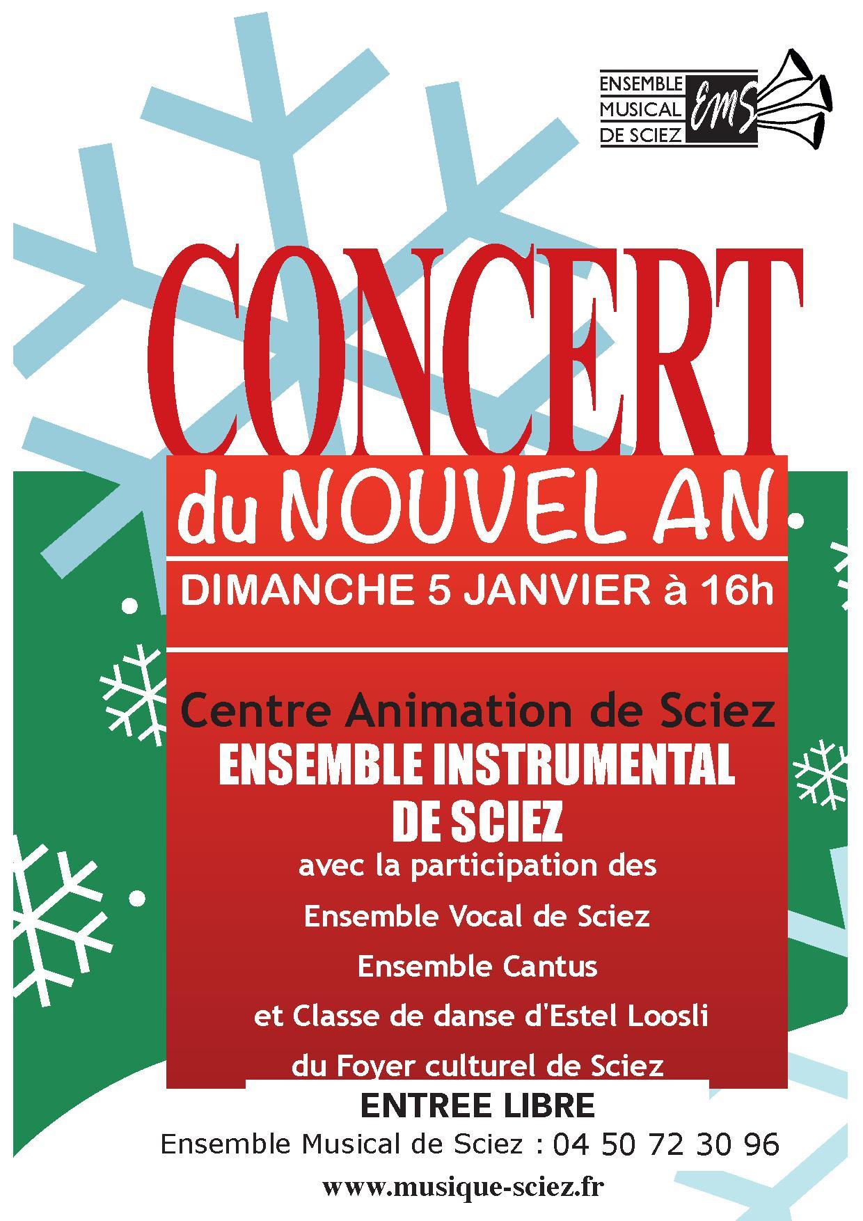 Concert du Nouvel An dimanche 5 janvier