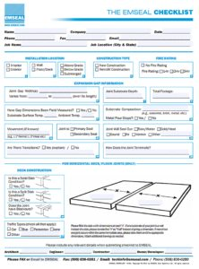 Expansion joint checklist Sealant and Expansion Joint Selection EMSEAL