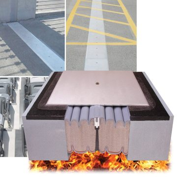 SJS-FR fire rating built in to Seismic Joint System
