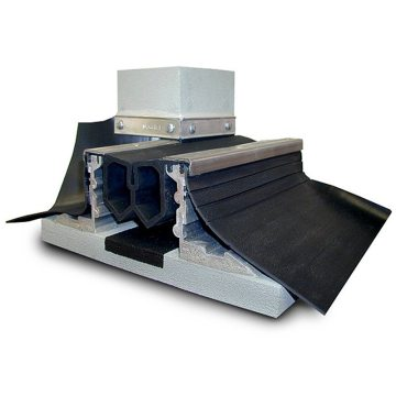 Waterproof expansion joint for plaza decks Migutan FP155 from EMSEAL