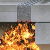 Expansion joint stadium fire rated Emshield from EMSEAL