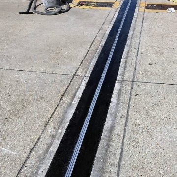 DSM System installed into blockouts filled with Emcrete elastomeric-concrete