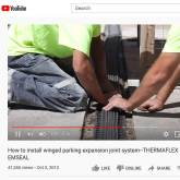 Winged Parking Expansion Joint System Installation Emseal Thermaflex