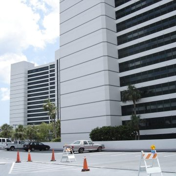 Parking Expansion Joint Thermaflex installed at Condo on the Bay in Sarasota, FL.