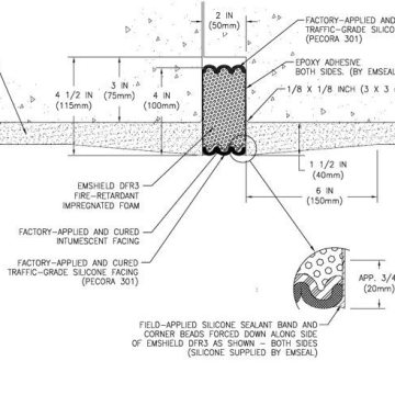 RWS Compliant, Fire-Rated, Tunnel Expansion Joint: EMSHIELD DFR3