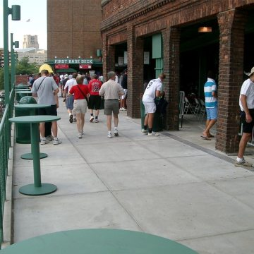 Migutan installed at Fenway Park in Boston, Massachusetts.