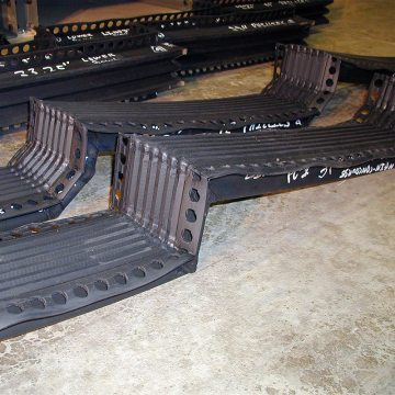 Custom welded tread and riser arrays for Philllies stadium - Emseal