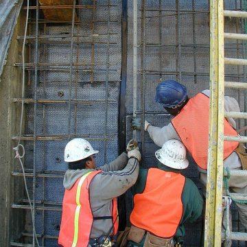 BG Lagging wall installing BG System termination bar EMSEAL
