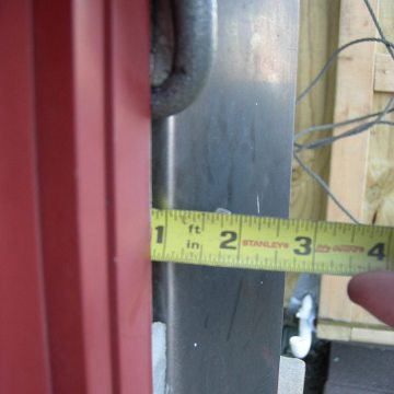 Depth of joint is measured to ensure adequate room to install Backerseal
