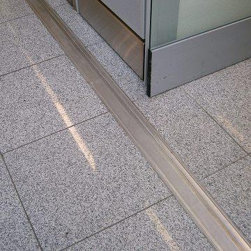GDR airport floor expansion joints Dusseldorf airport Migutrans FS 110 closeup Migua EMSEAL